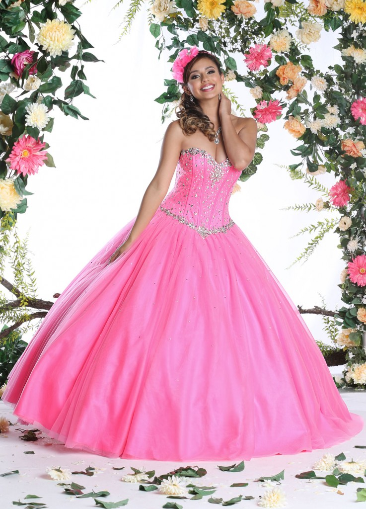 Dancing Short Dress Hot Pink Quincenera