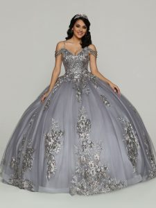 Gray Multi-Color Quinceanera Dress Style #80510