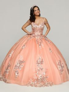 Peach Multi-Color Quinceanera Dress Style #80510