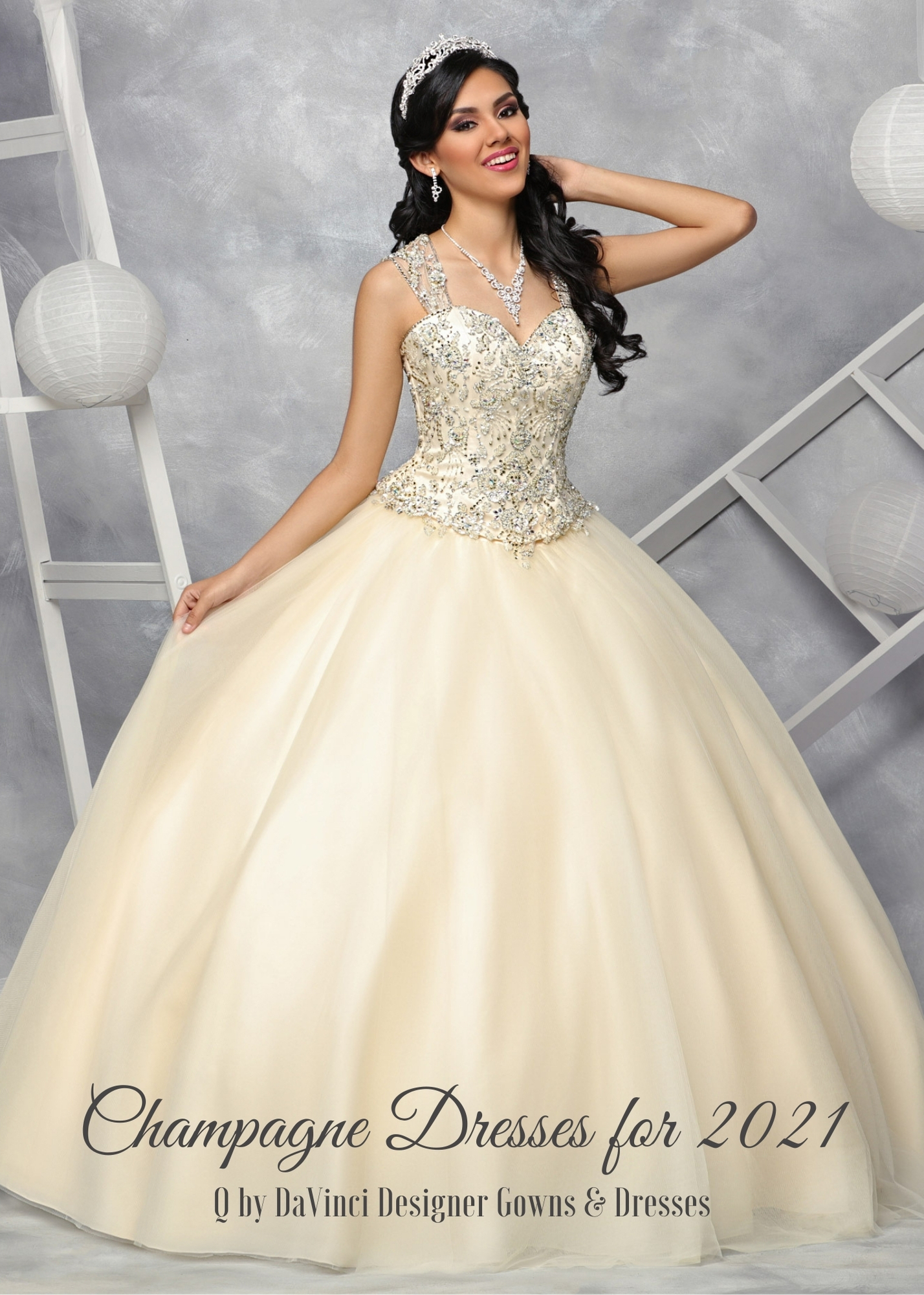 Champagne Quinceanera Dresses for 2021 – Q by DaVinci