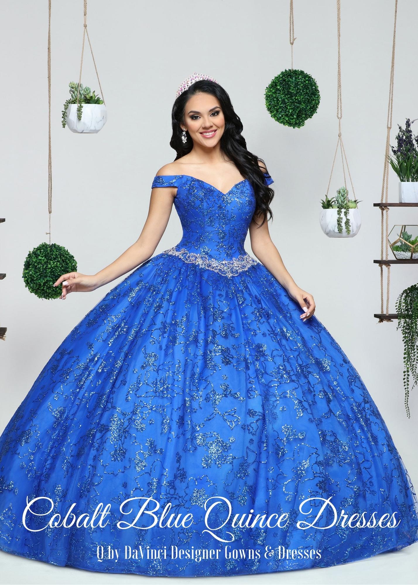 Bright Cobalt Blue Quinceanera Dresses for 2021 – Q by DaVinci