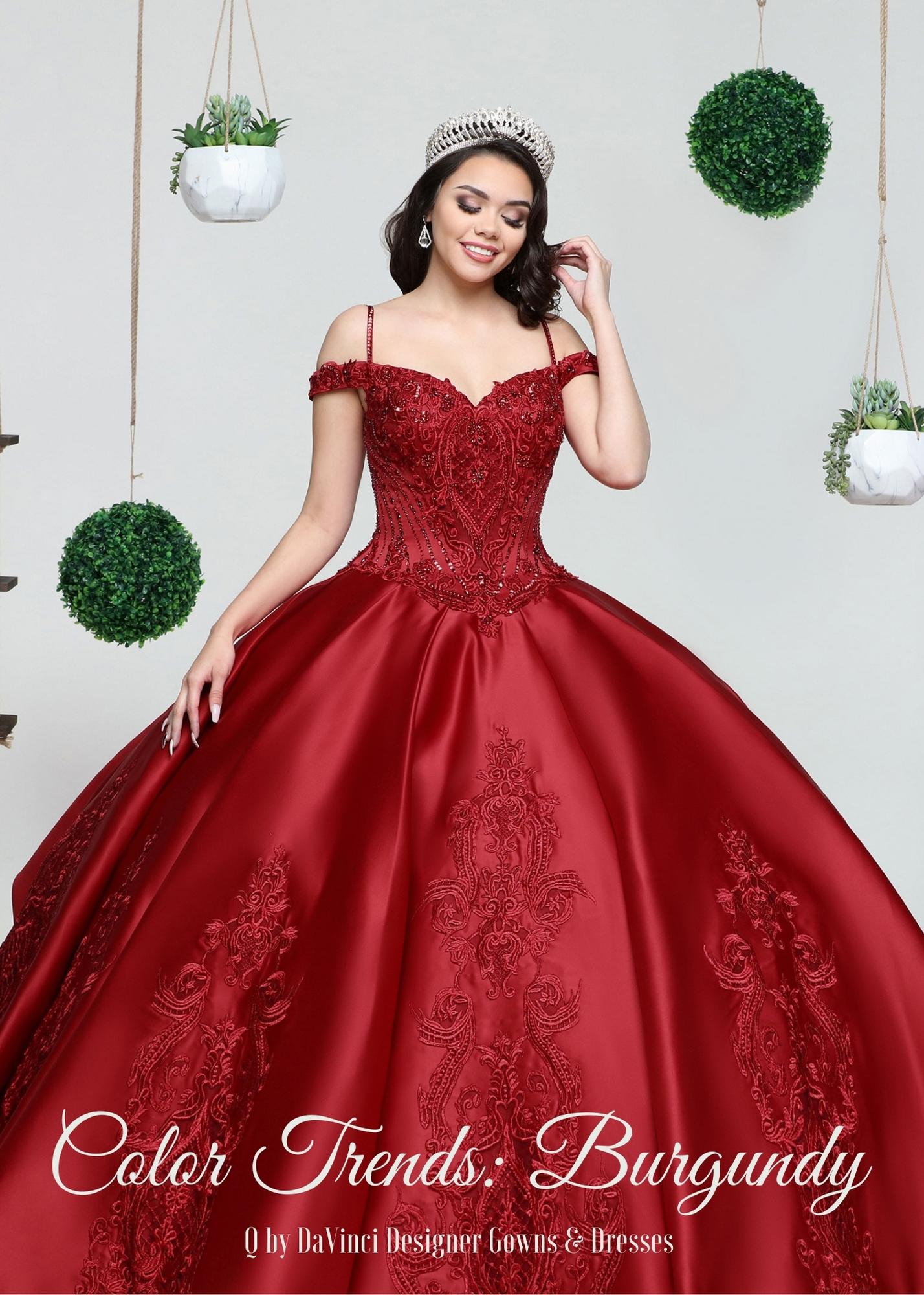 Quinceanera Dress Color Trends: Burgundy