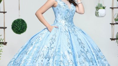 Winter Quinceanera Dresses in Ice Blue for 2021