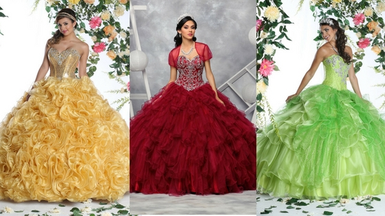 7 Scrumptious Holiday Theme Quinceanera Gowns